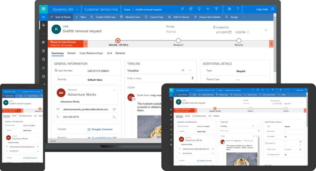 Dynamics 365 Customer Service Unified Interface