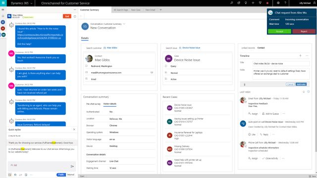Dynamics 365 Customer Service Omnichannel